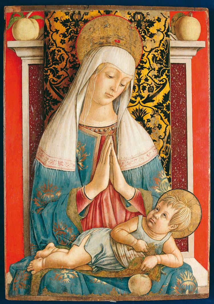 Carlo Crivelli, Madonna in trono con il Bambino detta Madonna di Poggio di Bretta