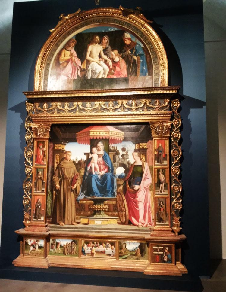Marco Palmezzano, Madonna in trono tra i santi Francesco e Caterina d'Alessandria