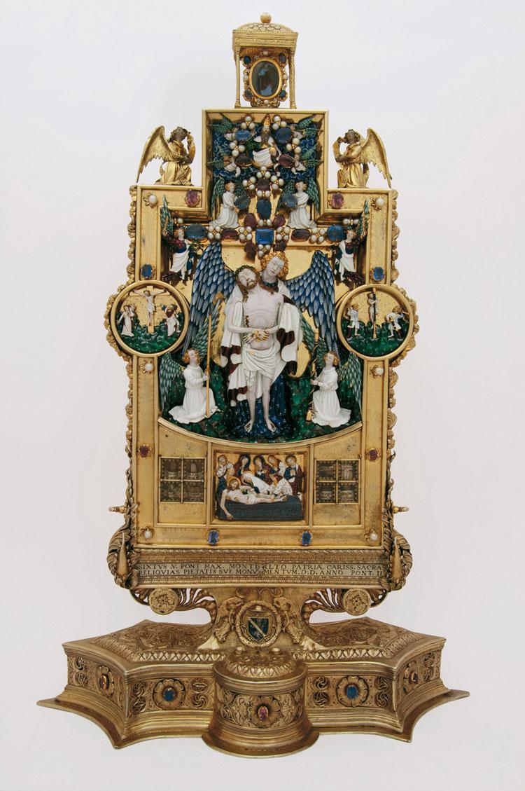 Attribuito a Jean du Vivier, Reliquiario di Montalto
