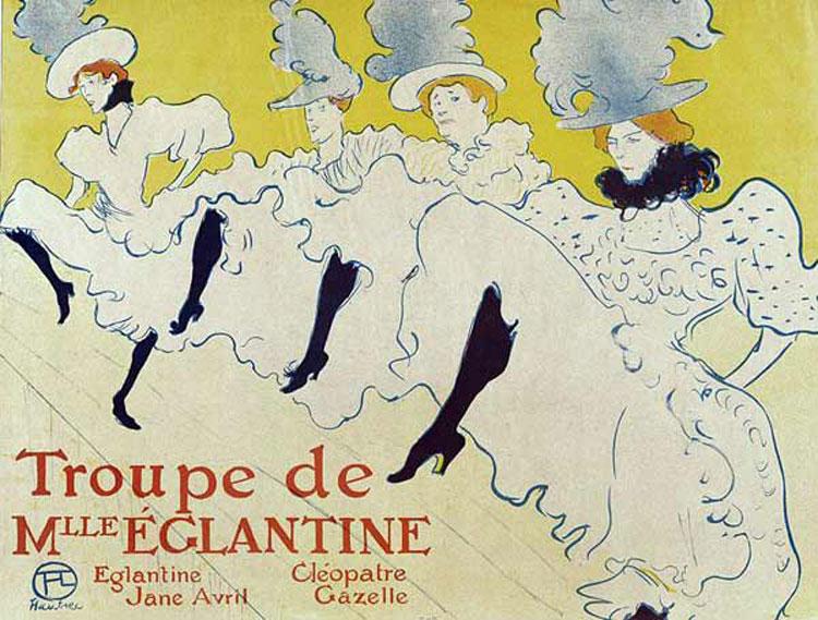 Henri de Toulouse-Lautrec, La Troupe de Mademoiselle Églantine