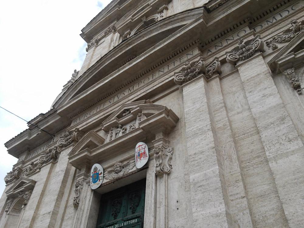 Facciata della chiesa di Santa Maria della Vittoria a Roma