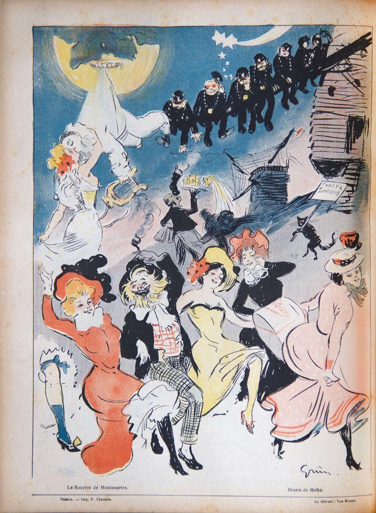 Jules Alexandre Grün, Illustrazione per Le sourire de Montmartre