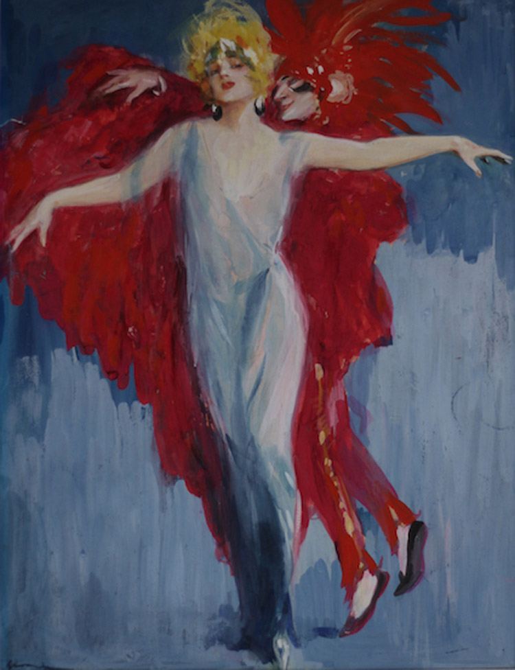 Lutz Ehrenberger, Ballerina con figura in rosso
