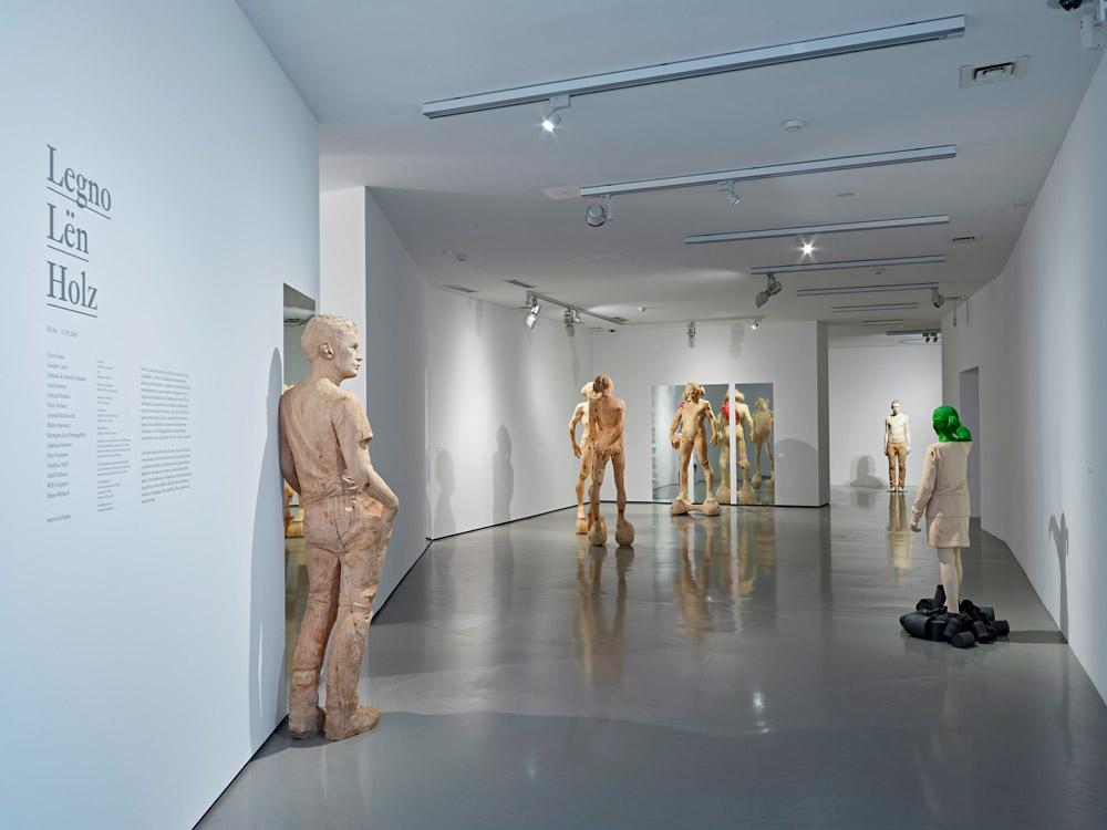 La mostra Legno | Lën | Holz. Veduta dell'allestimento
