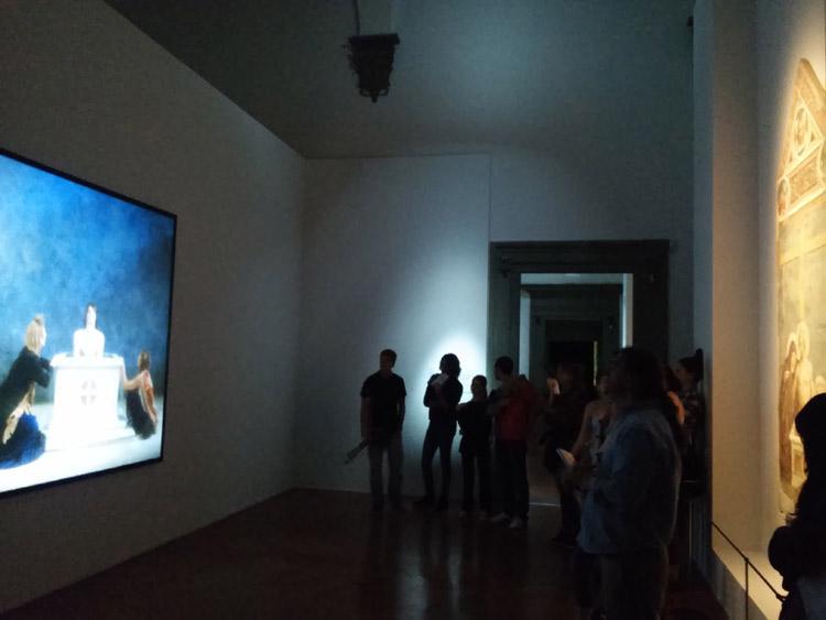 La sala con Emergence e la Pietà di Masolino