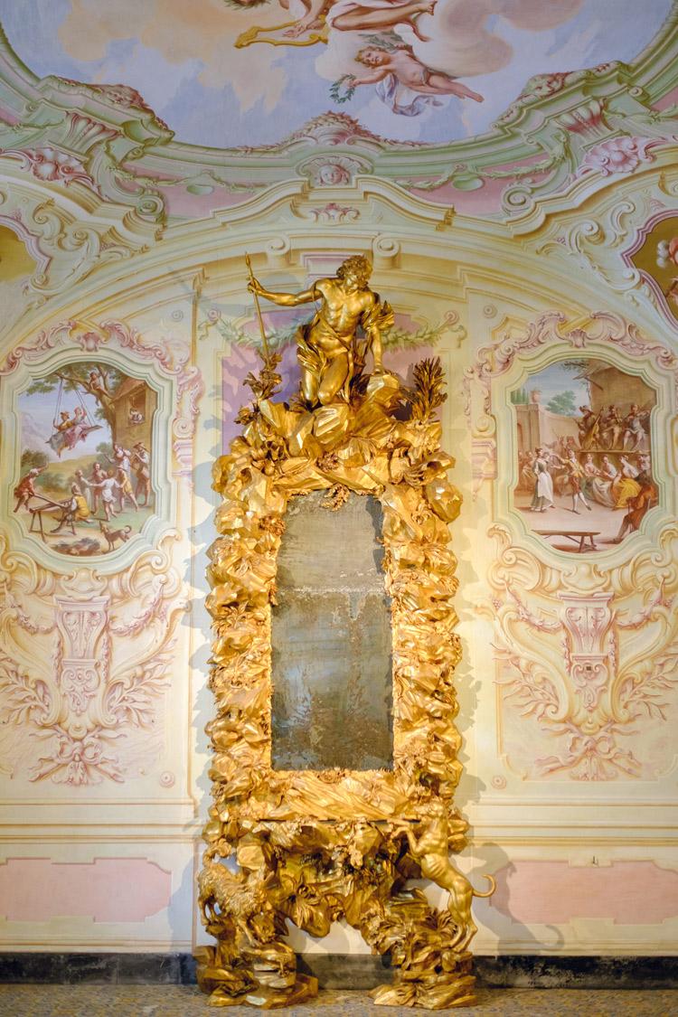 Filippo Parodi, Specchiera con il Mito di Narciso