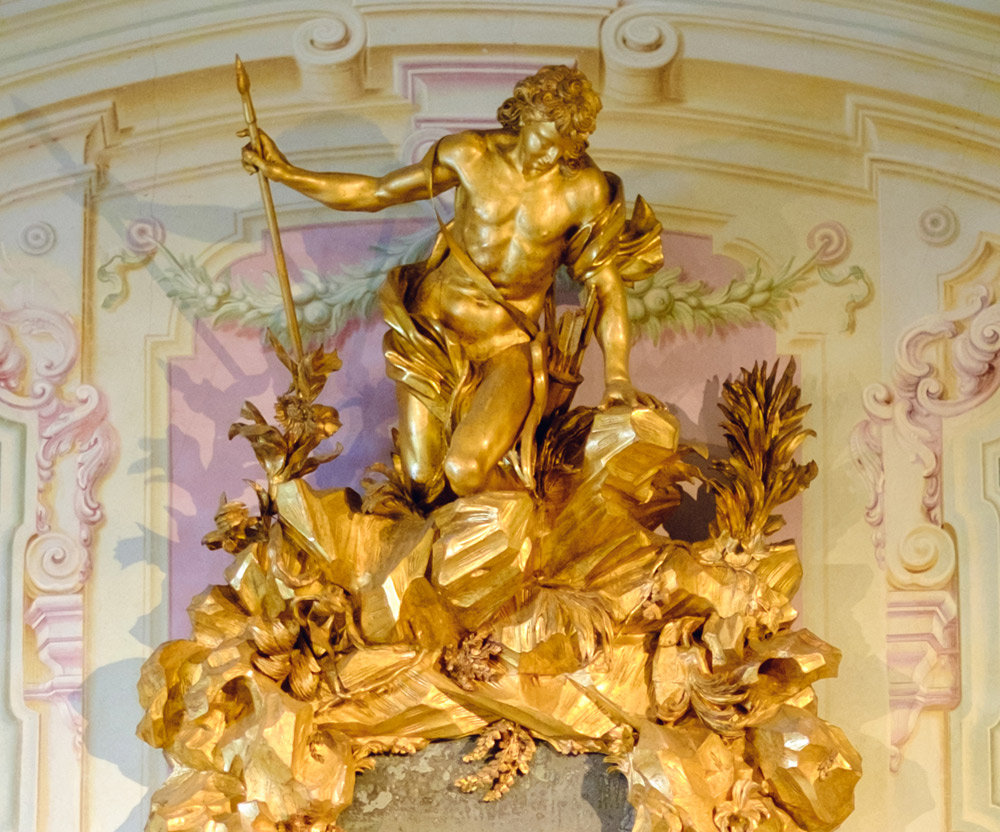 Dettaglio della figura di Narciso