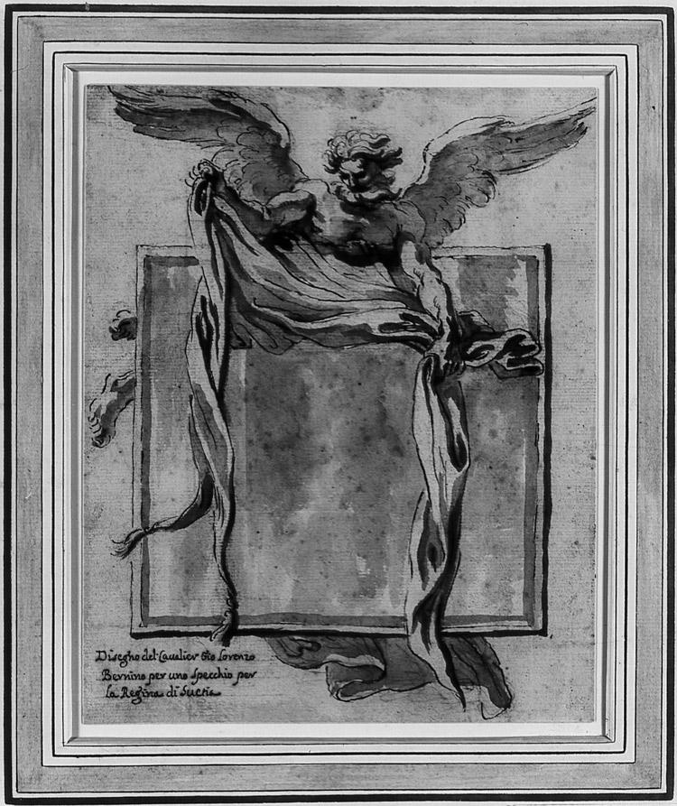 Gian Lorenzo Bernini, Disegno per lo specchio di Cristina di Svezia
