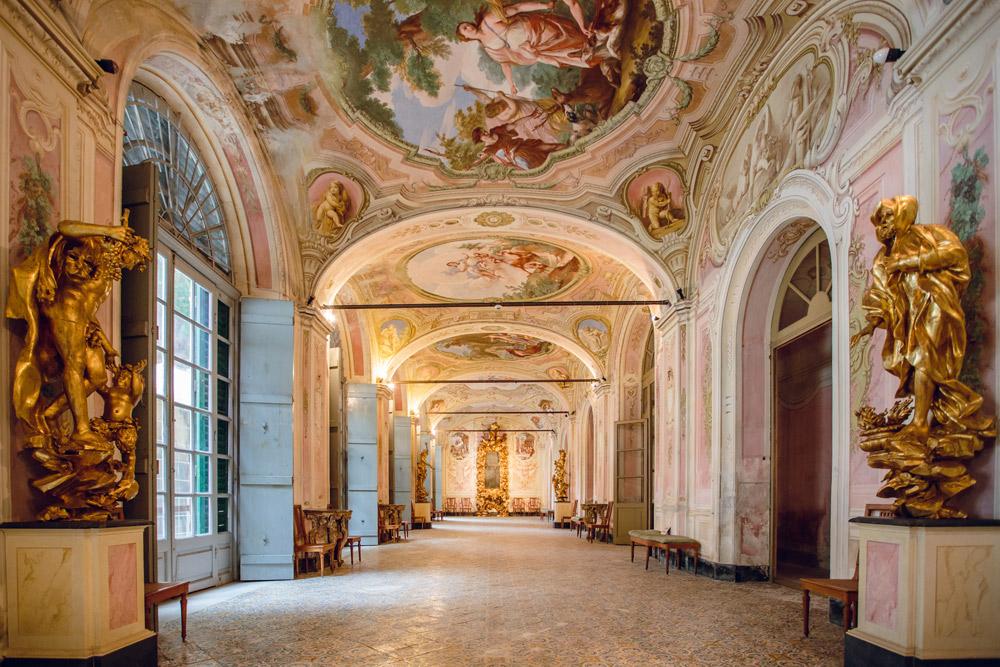 Villa Faraggiana, Albissola Marina. La Galleria delle Stagioni