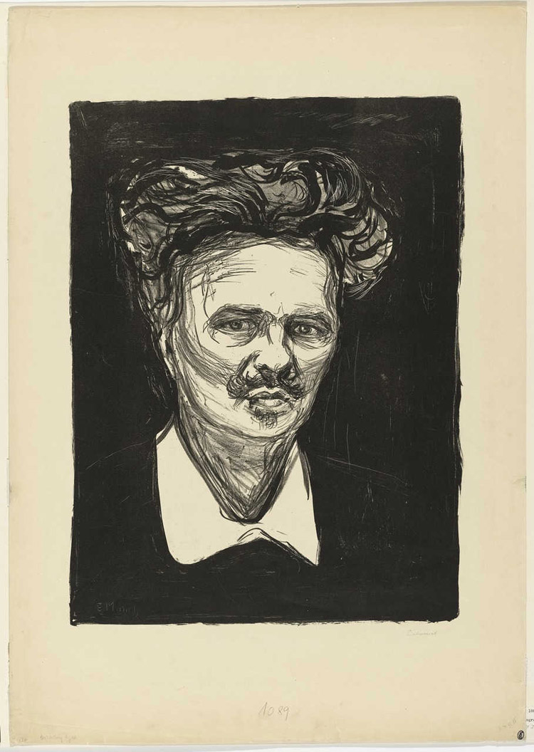 Edvard Munch, Ritratto di August Strindberg