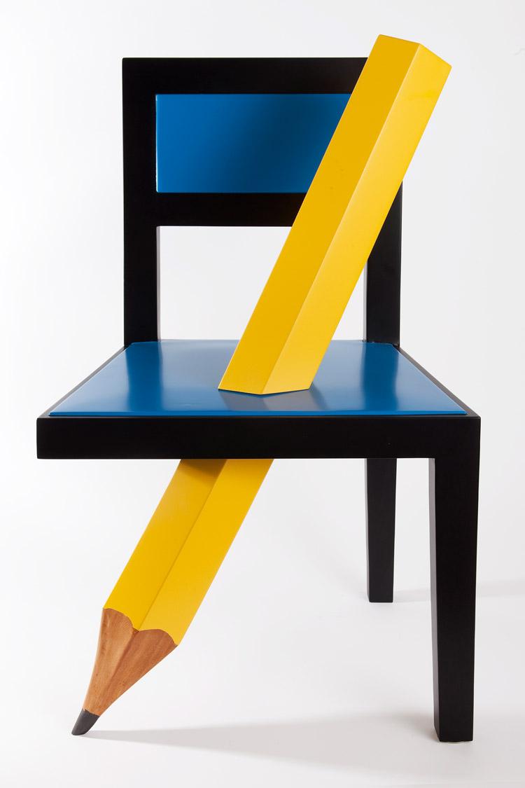 Armando Testa, Sedia con matita