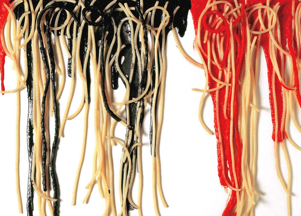 Armando Testa, Spaghetti su tela