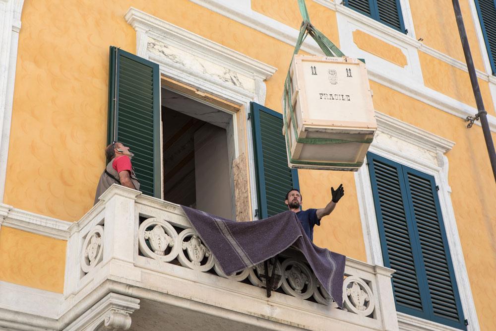 L'arrivo a Carrara delle opere della mostra Dopo Canova