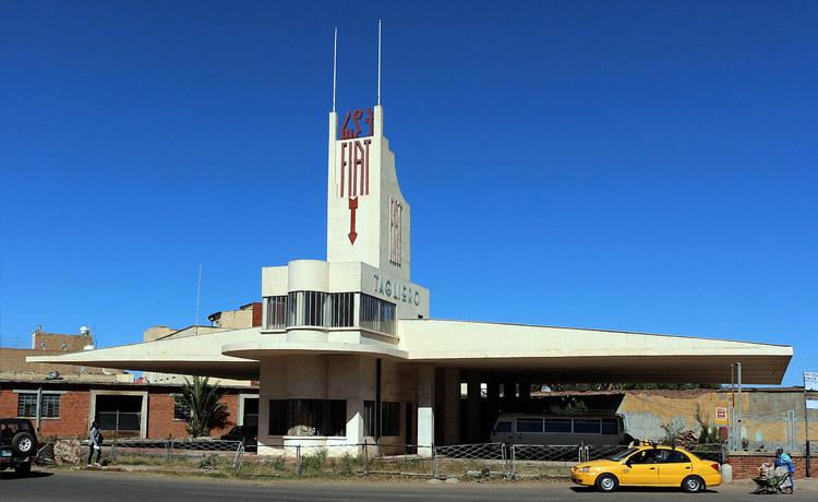 Asmara, la stazione di servizio Fiat Tagliero