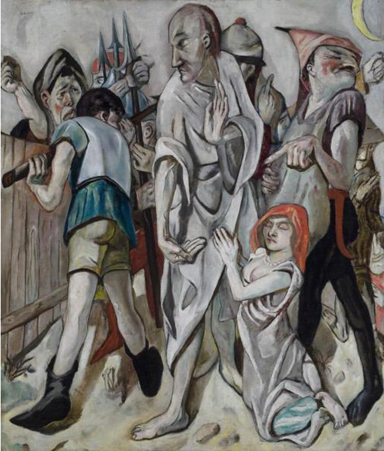 Max Beckmann, Cristo e l'adultera