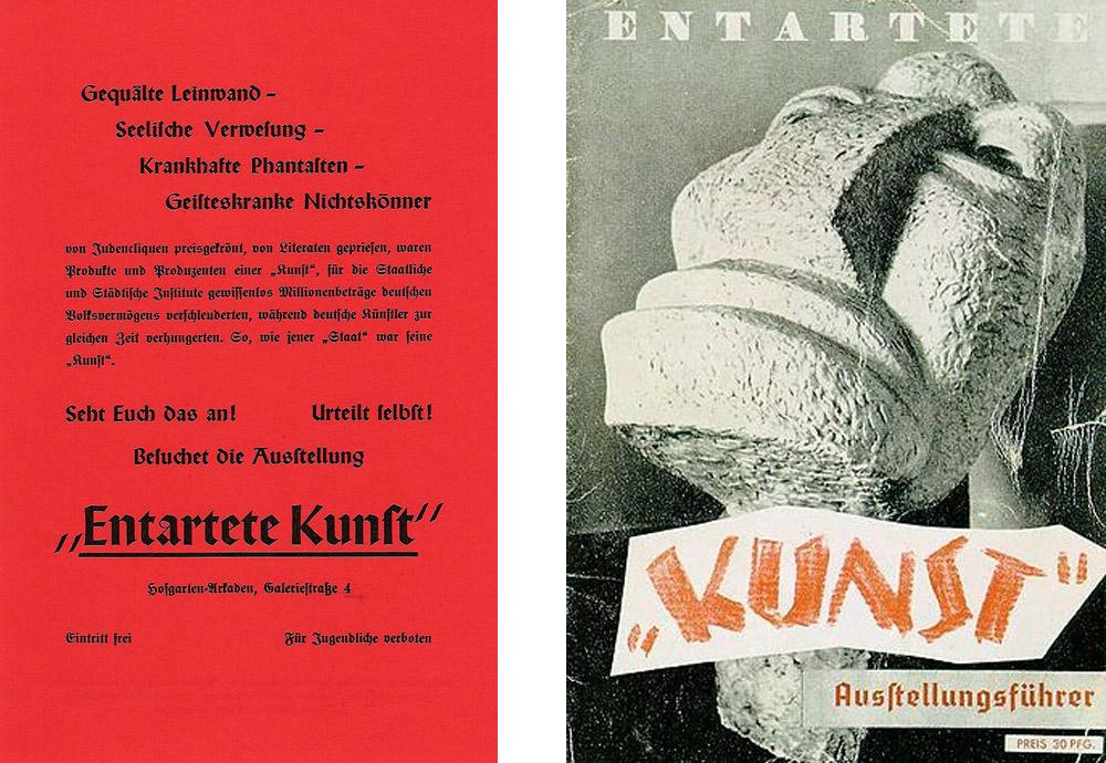 Il volantino pubblicato per promuovere la mostra e il catalogo della mostra di Berlino