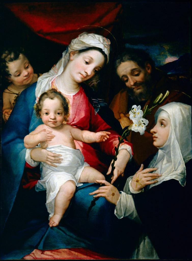 Alessandro Casolani, Sacra Famiglia con san Giovannino