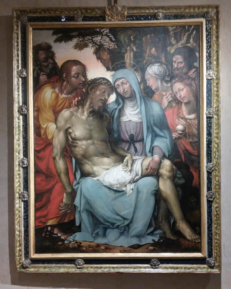 Marco Bigio (Giomo del Sodoma?), Cristo in pietà