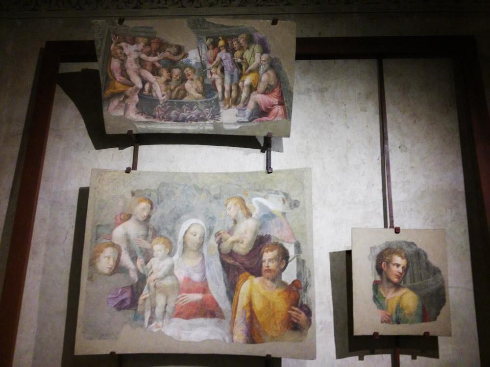 Bartolomeo Neroni detto il Riccio, frammenti degli affreschi per la Cattedrale di Siena