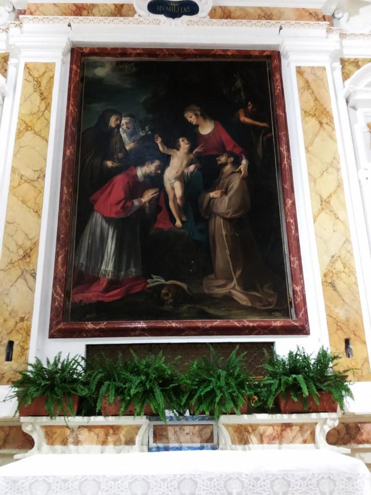 Francesco Rustici detto il Rustichino, Madonna col Bambino e i santi Carlo Borromeo, Francesco, Chiara, Caterina da Siena e Giovanni Battista