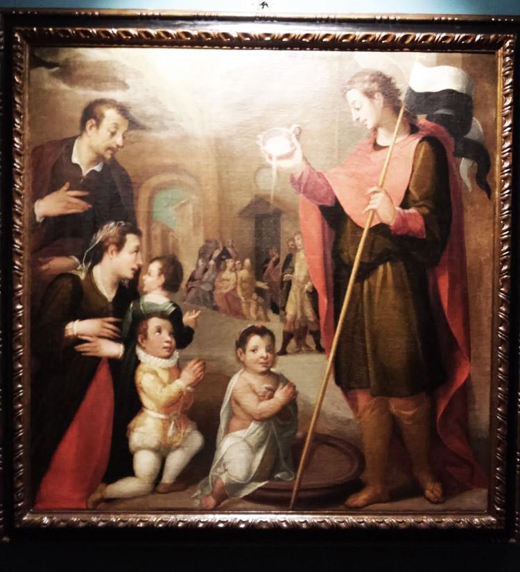 Vincenzo Rustici, Sant'Ansano battezza una bambina