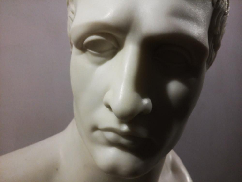 Antonio Canova e bottega, Ritratto di Napoleone Bonaparte, Primo piano del volto
