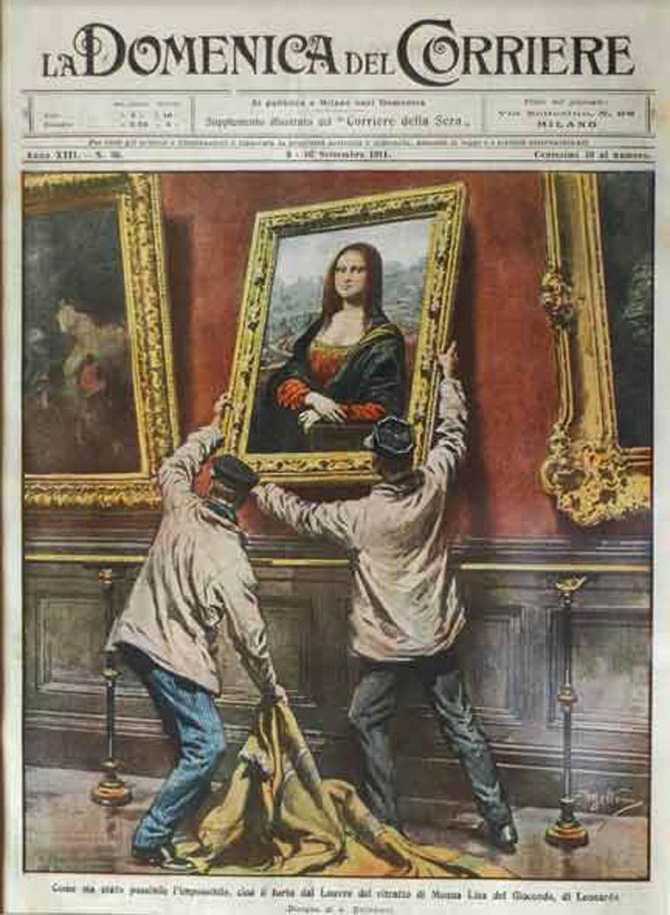 Il furto della Gioconda sulla Domenica del Corriere
