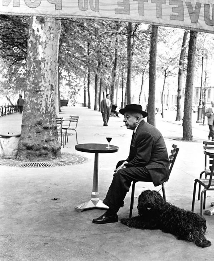 Robert Doisneau, Jacques Prévert au guéridon