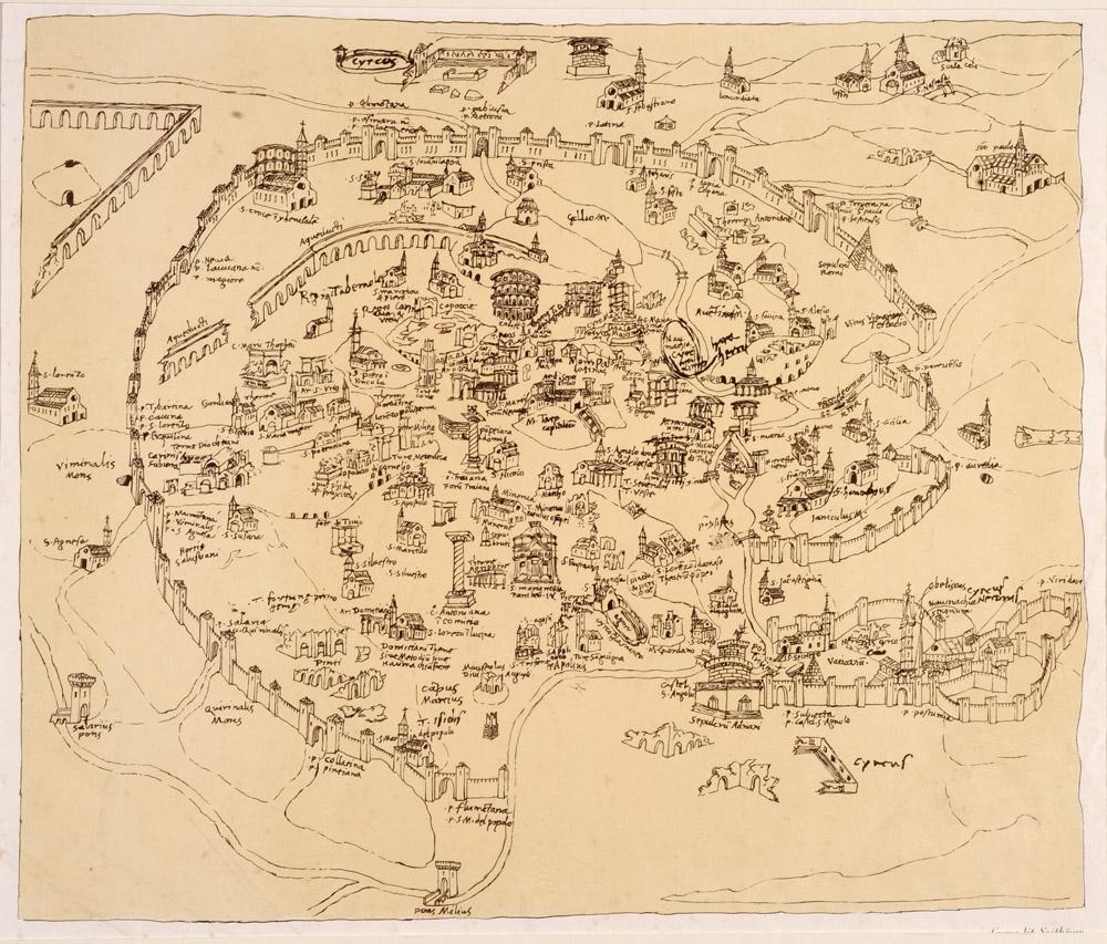 Pianta di Roma nel XV secolo