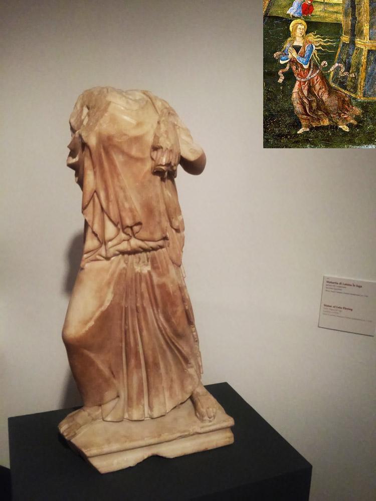 Statuetta di Latona in fuga