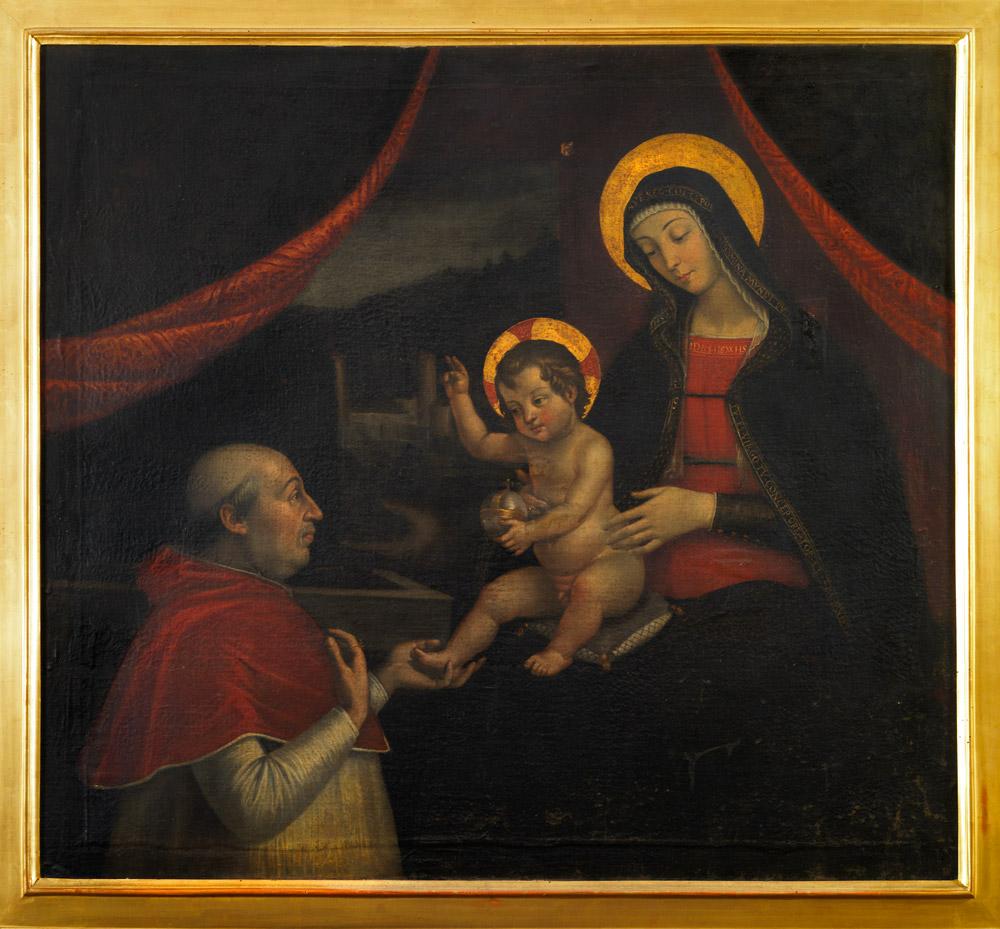 Pietro Fachetti, Investitura divina di Alessandro VI, copia dal dipinto murario del Pinturicchio