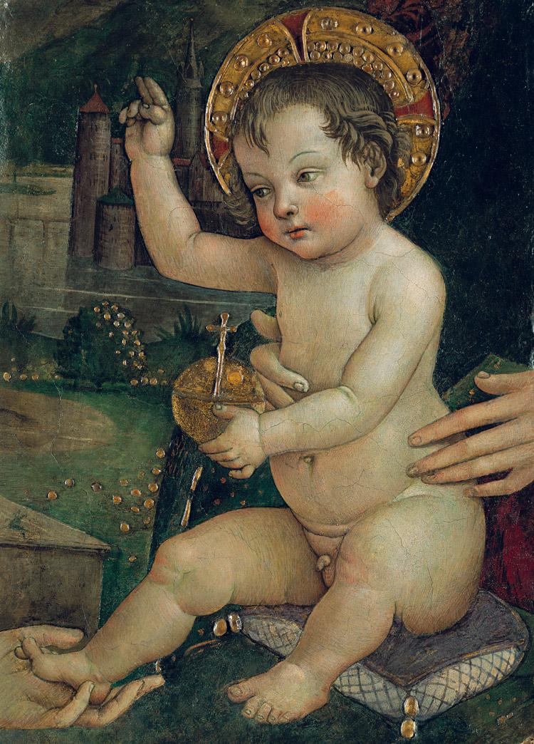 Pinturicchio, Bambin Gesù delle mani, frammento della distrutta Investitura divina di Alessandro VI
