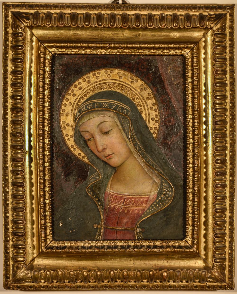 Pinturicchio, Madonna, frammento della distrutta Investitura divina di Alessandro VI