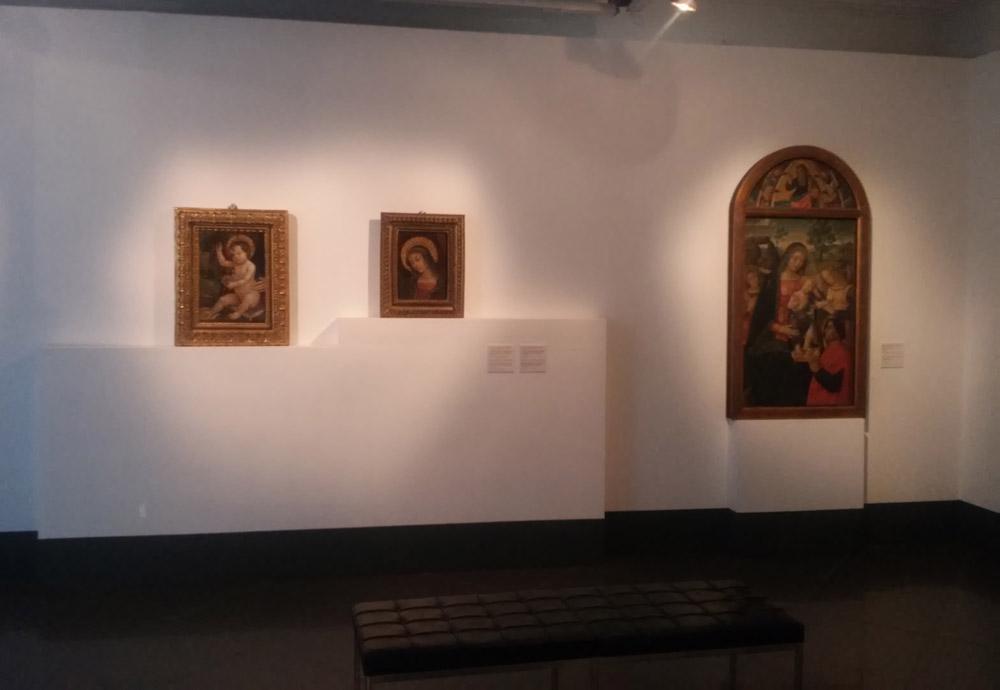 Sala della mostra Pintoricchio. Pittore dei Borgia