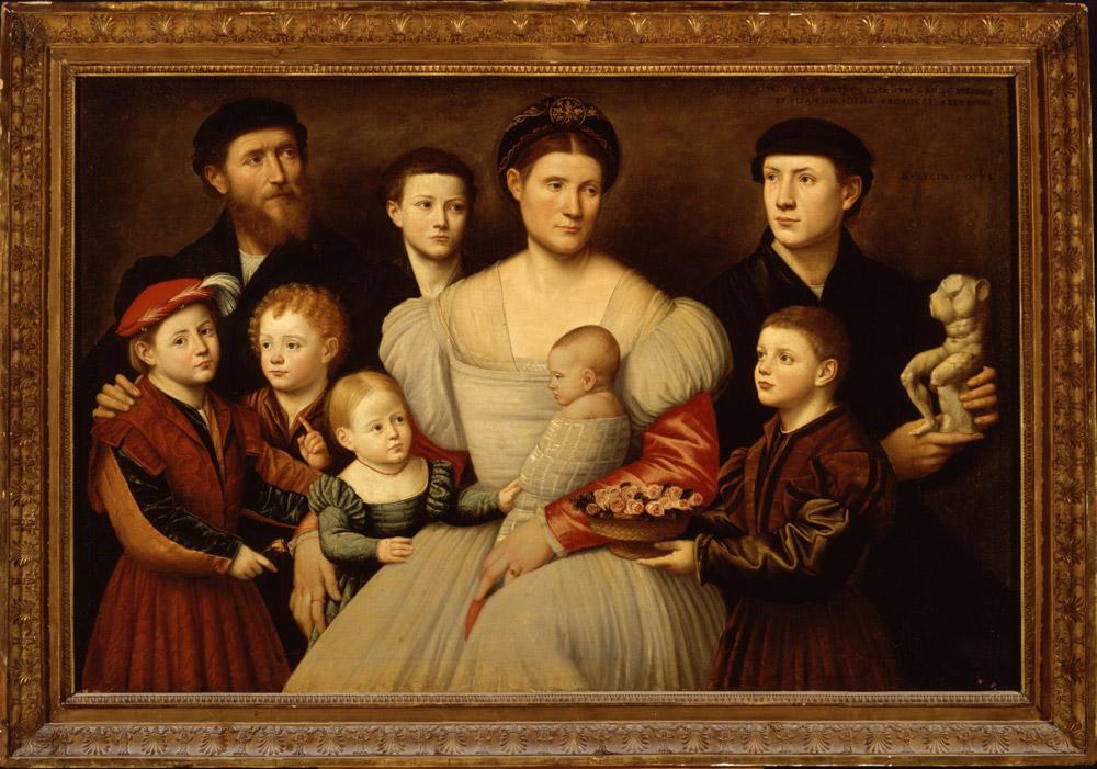 Bernardino Licinio, Ritratto della famiglia di Arrigo Licinio