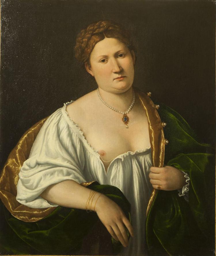Bernardino Licinio, Ritratto di donna che scopre il seno