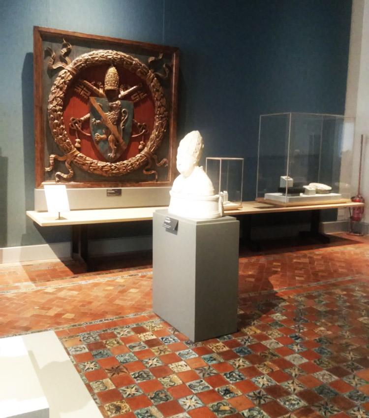 Una delle sale della mostra Labirinti del cuore. Giorgione e le stagioni del sentimento tra Venezia e Roma