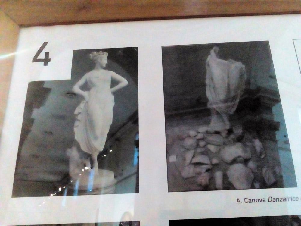 La danzatrice di Antonio Canova prima e dopo i danneggiamenti