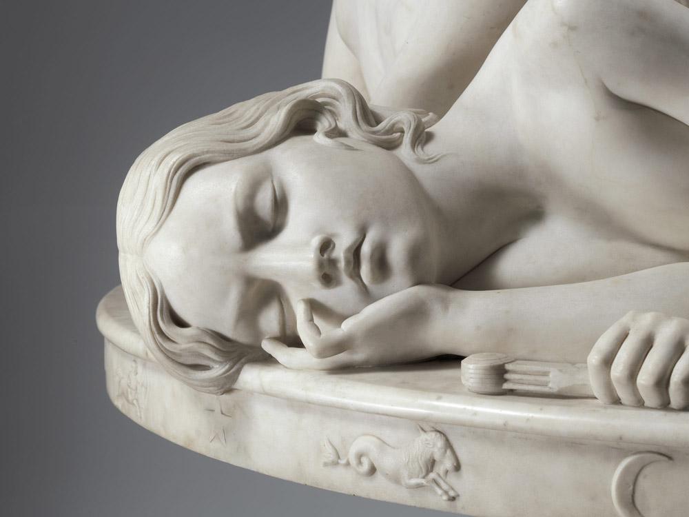 Lorenzo Bartolini, Tavola degli Amori, Dettaglio della Virtù