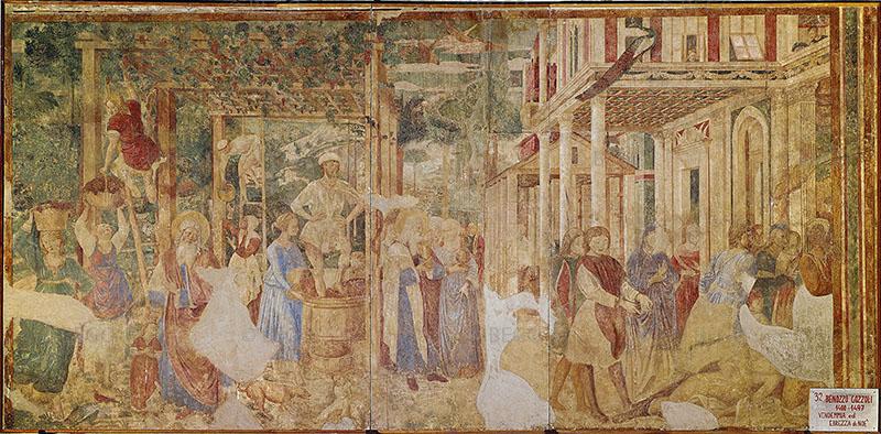 Benozzo Gozzoli, Vendemmia ed ebbrezza di Noè