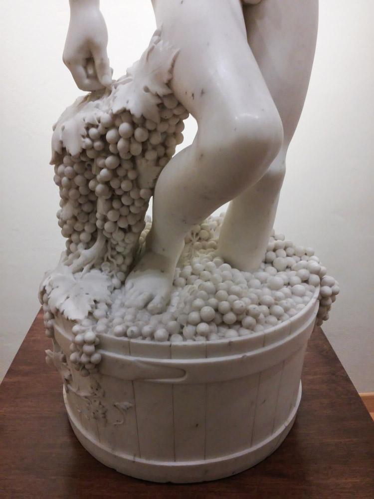 Lorenzo Bartolini, L'Ammostatore, dettaglio delle gambe