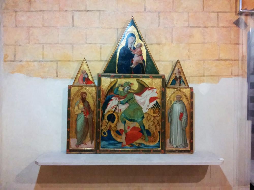Ambrogio Lorenzetti, Trittico di Badia a Rofeno al Museo di Asciano