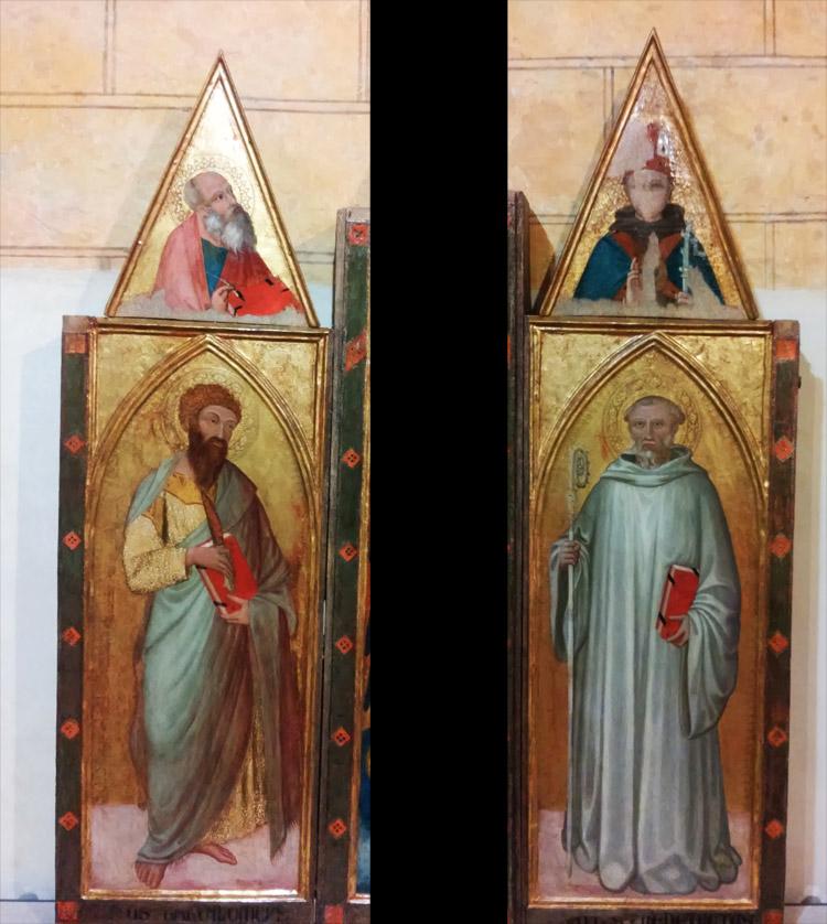 Ambrogio Lorenzetti, Trittico di Badia a Rofeno, Pannelli laterali