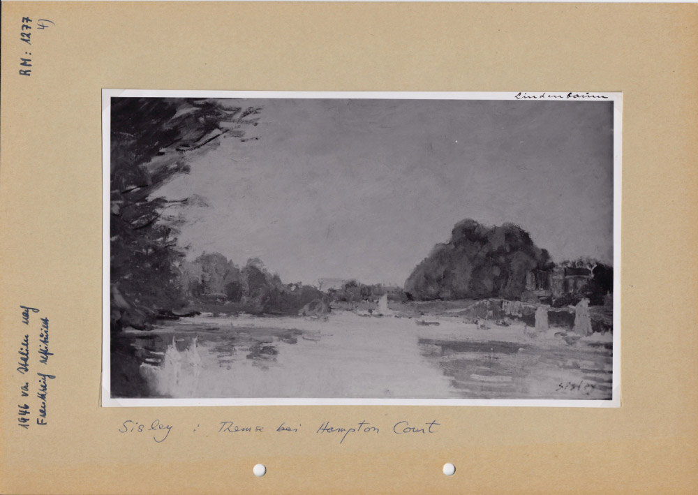 Alfred Sisley, La Tamise à Hampton Court