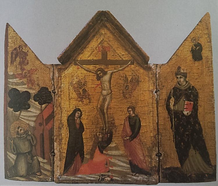 Bottega di Pacino di Bonaguida, Trittico della Crocifissione