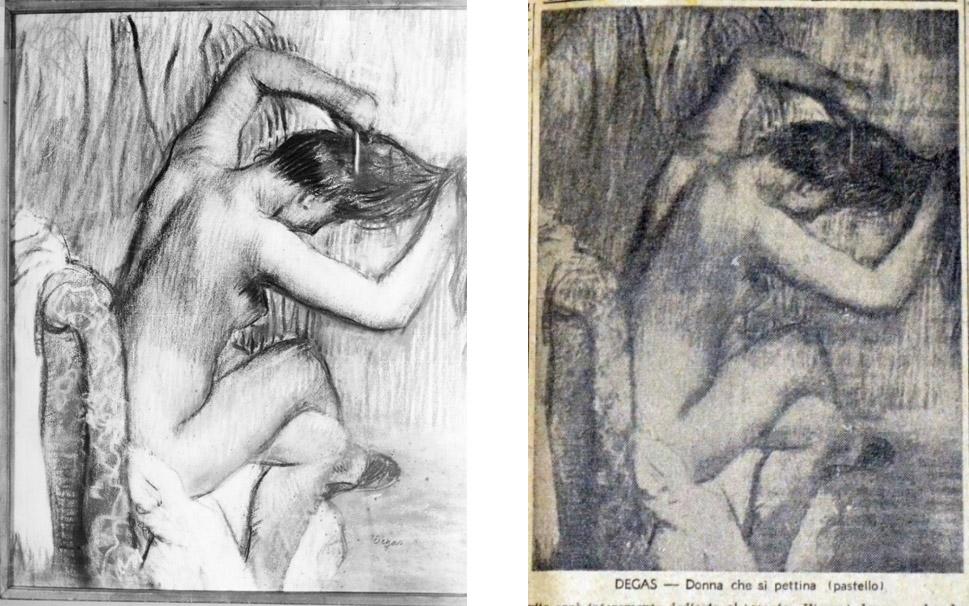 Edgar Degas, Donna che si pettina