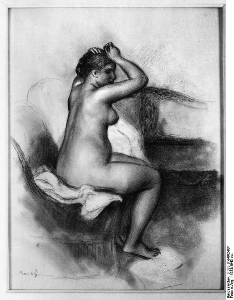 Pierre Auguste Renoir, Nudo femminile seduto