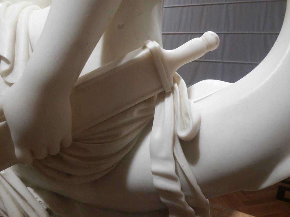 Emil Wolff, Teti con le armi di Achille, dettaglio della spada di Achille