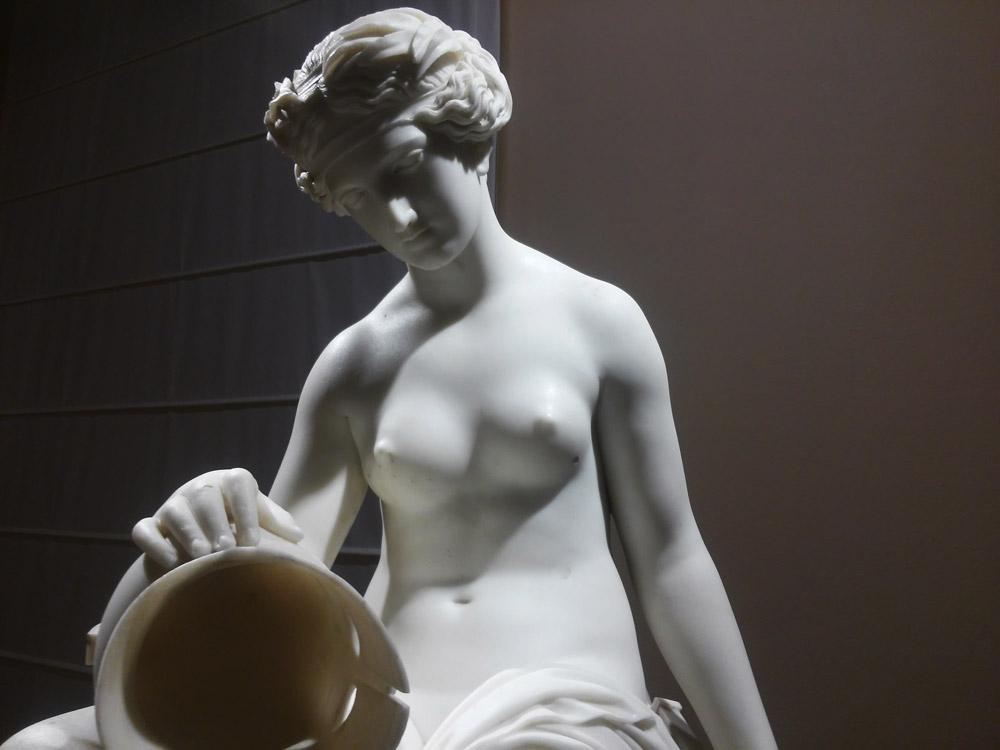 Emil Wolff, Teti con le armi di Achille, dettaglio del volto