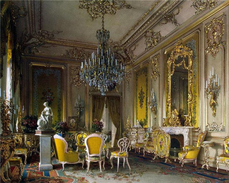 Luigi Premazzi, Dimora del barone Stieglitz. La sala da disegno